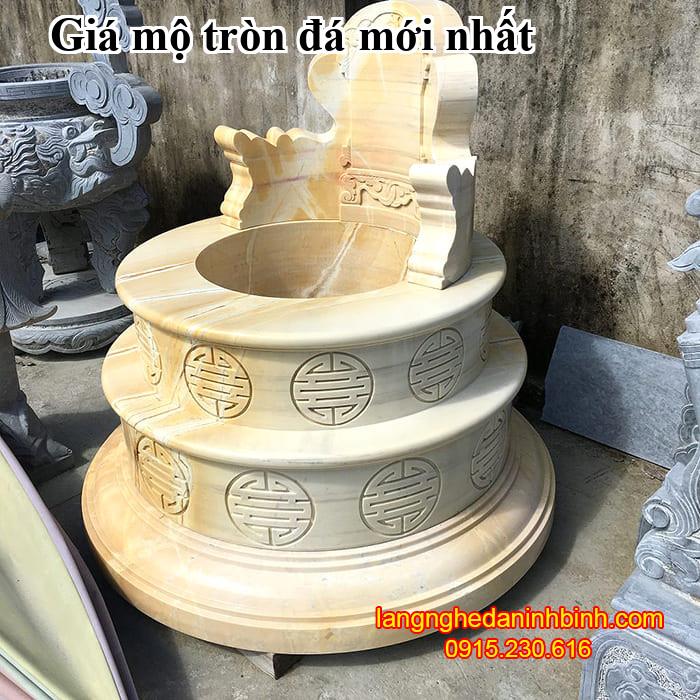 Giá mộ tròn đá mới nhất