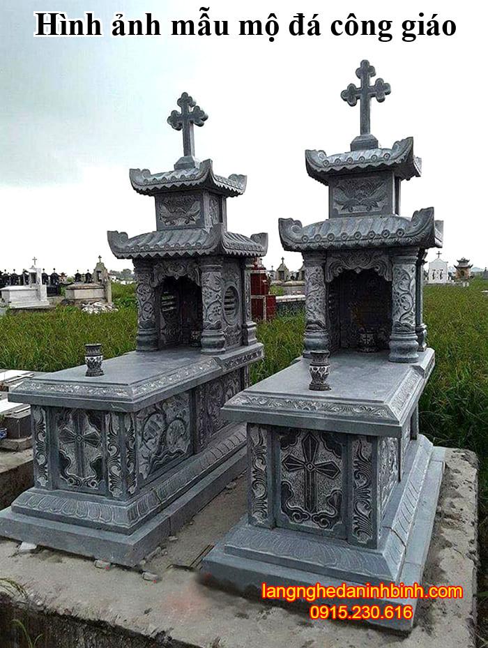 Hình ảnh mẫu mộ đá công giáo