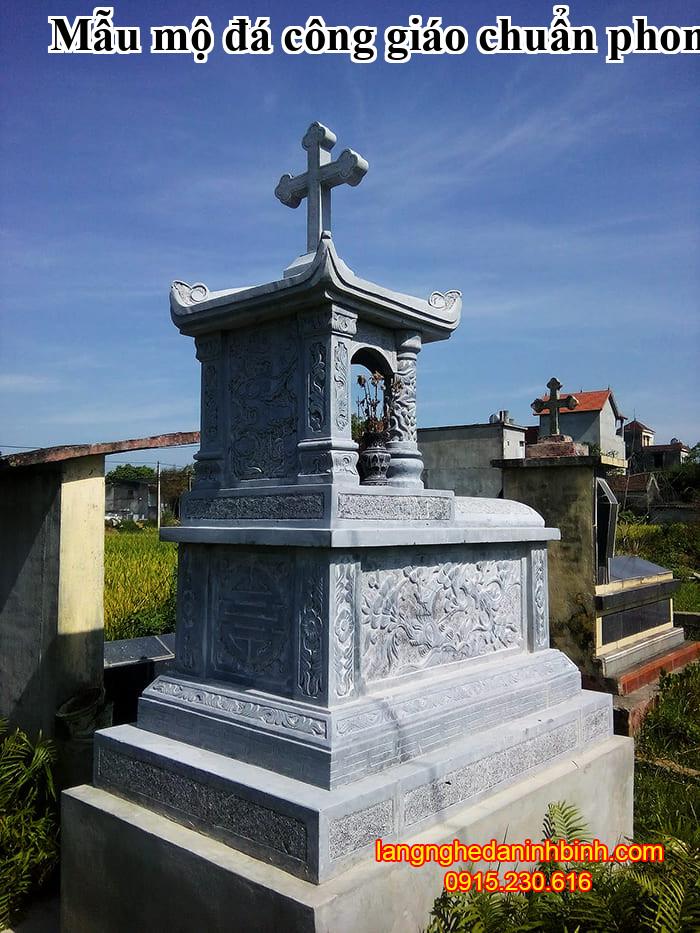 Mẫu mộ đá công giáo chuẩn phong thủy