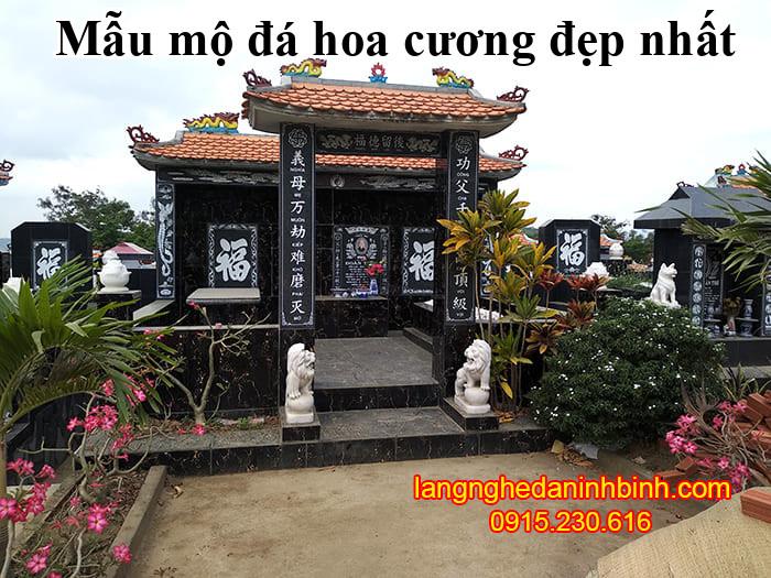 Mẫu mộ đá hoa cương đẹp nhất tại Ninh Vân