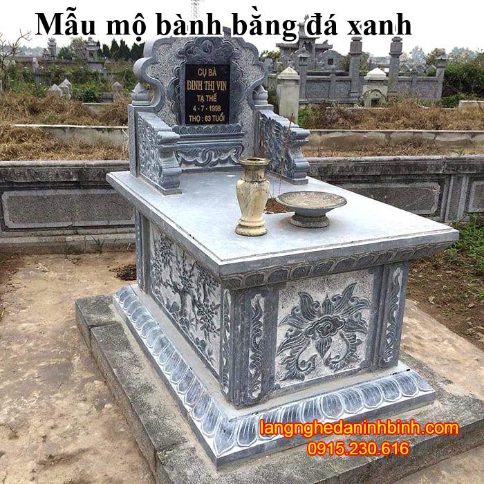 Mẫu mộ bành bằng đá xanh