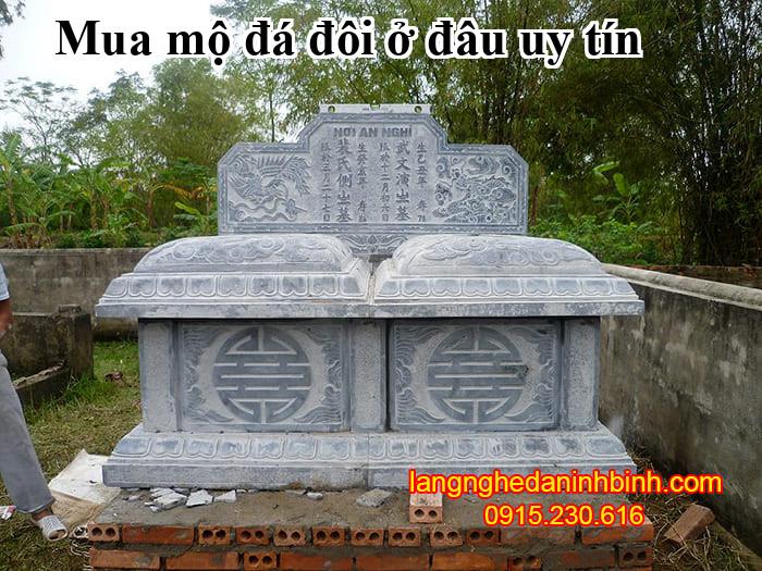 Mua mộ đá đôi ở đâu uy tín