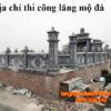 Địa chỉ thi công lăng mộ đá