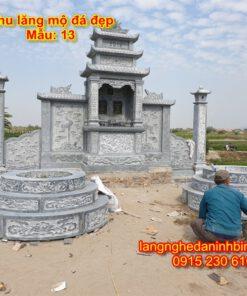 Khu lăng mộ đá đẹp mẫu 13