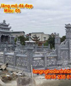 Khu lăng mộ đá giá rẻ mẫu 05