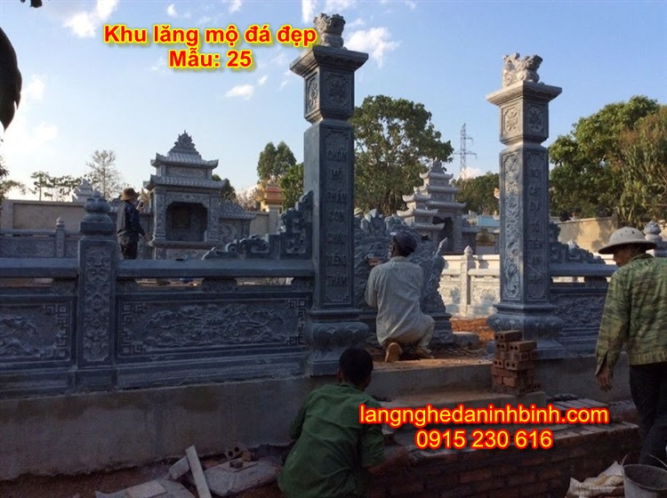 Khu mộ đá dòng họ giá rẻ NB-09