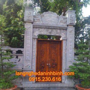 Mẫu cổng nhà thờ họ bằng đá tự nhiên 02