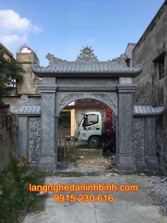 Mẫu cổng nhà thờ họ bằng đá tự nhiên 11