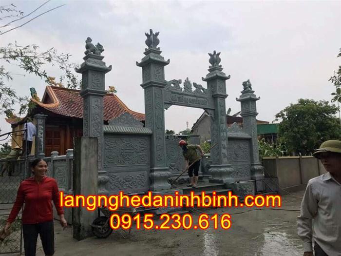 Mẫu cổng nhà thờ họ bằng đá tự nhiên