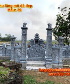 Mẫu khu lăng mộ của gia đình mẫu 29