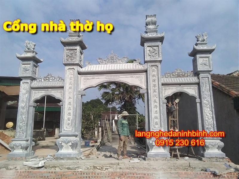 Mẫu cổng nhà thờ họ bằng đá - 1