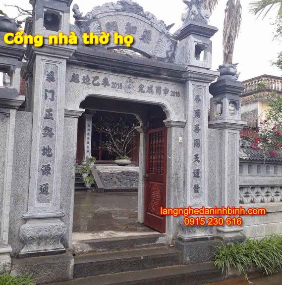 Mẫu cổng nhà thờ họ bằng đá - 5