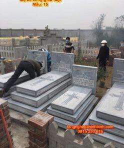 Lăng mộ công giáo của gia đình đơn giản mẫu 15