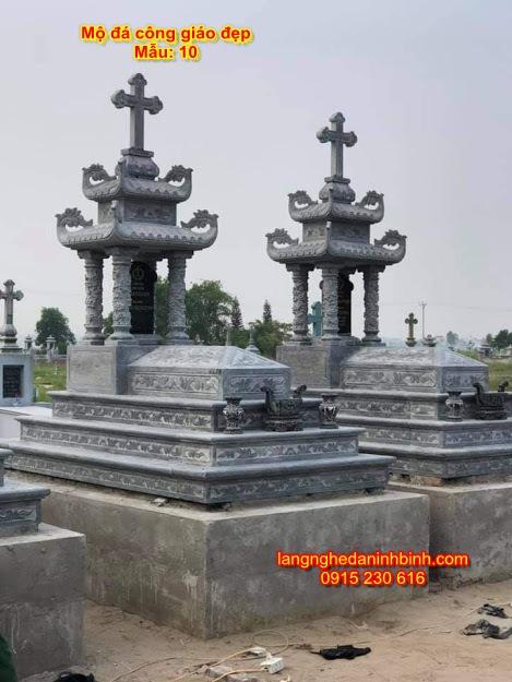 Lăng mộ đá công giáo đẹp mẫu 10