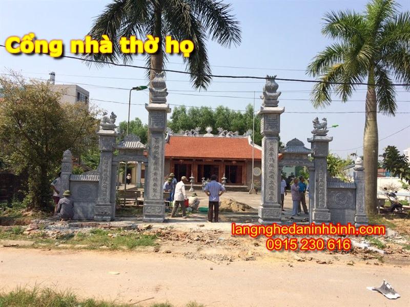 Mẫu cổng nhà thờ họ bằng đá - 3
