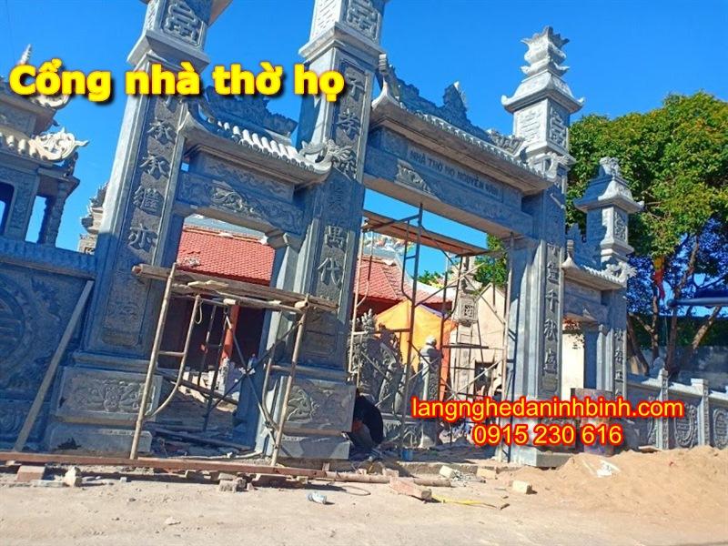 Mẫu cổng nhà thờ họ bằng đá - 4