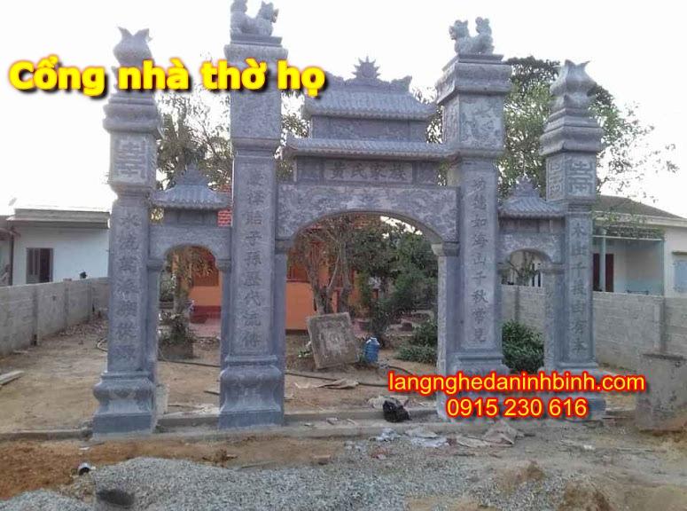 Mẫu cổng nhà thờ họ bằng đá - 2