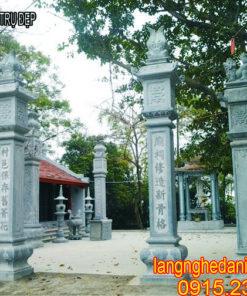 Cột đá đồng trụ, Mẫu cột đá đồng trụ đẹp, Cột đá đồng trụ nhà thờ họ đẹp