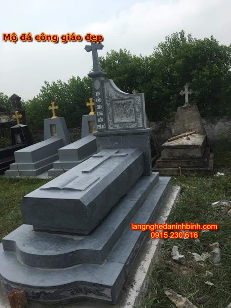 Mẫu mộ đá thiên chúa giáo đẹp NB-02, mộ đá công giáo đẹp; Mẫu mộ đá công giáo đẹp ninh bình; địa chỉ lắp đặt mộ đá công giáo đẹp; Mộ đá công giáo đẹp bằng đá tự nhiên; mẫu mộ công giáo bằng đá tự nhiên nguyên khối; Lăng mộ đá công giáo đẹp;