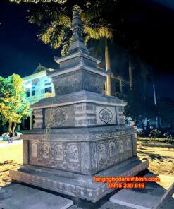 Mộ tháp đá đẹp để cho cốt PL-06, Mộ tháp đá xanh tự nhiên; Tháp mộ; Mộ tháp phật giáo bằng đá; Địa chỉ mua mộ tháp giá rẻ; Lăng mộ tháp đẹp;