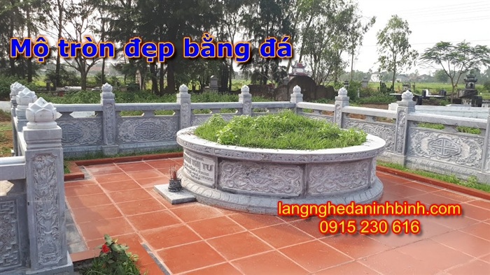 mộ tròn đá PL-01, Mộ tròn đá, Mộ tròn; Mẫu mộ tròn đẹp; Mộ tròn đá đẹp; Xây mộ tròn, Kích thước mộ tròn đẹp; Mộ tròn bằng đá; Mộ tròn phong thủy;