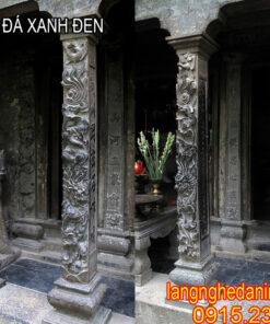 cột hiên đá xanh đen