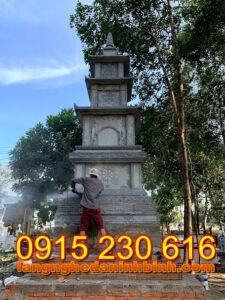 Mẫu tháp mộ đẹp để tro cốt bằng đá tại Bến Tre; Tháp đá; Mộ tháp bằng đá; mẫu mộ tháp bằng đá đẹp;  Mộ tháp; mộ tháp đẹp; mộ đá tháp;  Mẫu mộ tháp đẹp nhất hiện nay; Mộ đá hình tháp;