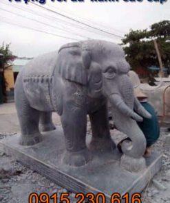 Tượng voi đá xanh tự nhiên nơi mua tượng voi đá