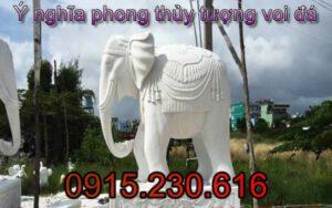 Tượng voi chầu bằng đá - 09