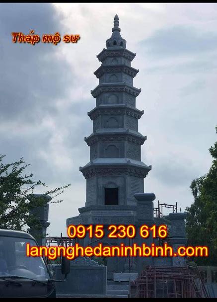 Tháp mộ sư - mộ tháp đá phật giáo Hậu Giang