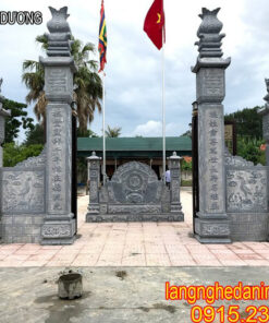 Xây dựng cổng đá nhà thờ họ ở Hải Dương đẹp giá rẻ