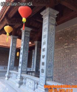 Mẫu cột đá xanh Thanh Hoá đẹp giá rẻ