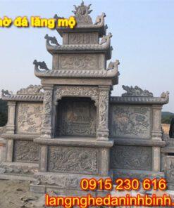 Mẫu lăng thờ đá lăng mộ đẹp