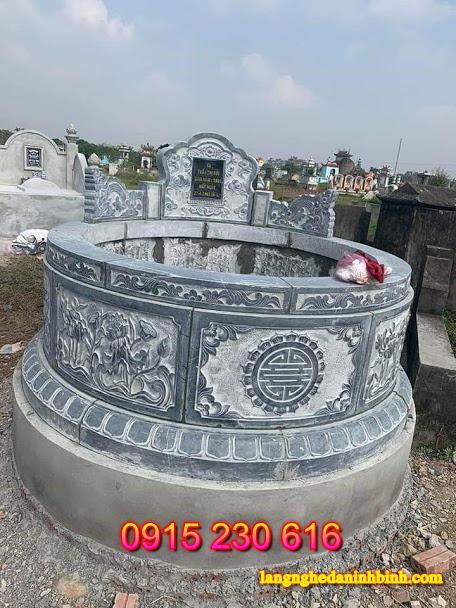 Mộ đá tròn-1; mộ đá; mộ đá đẹp; mộ tròn đá; mộ tròn bằng đá; mộ tròn đá xanh; mộ tổ