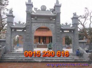 Cổng đá đẹp ở Bắc Ninh