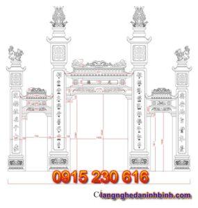 Cổng đá nhà thờ – Mẫu cổng đá đẹp ở Hà Tĩnh - 1
