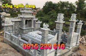 Cổng đá khu lăng mộ ở thái bình