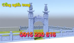Cổng khu lăng mộ gia đình ở Ninh Bình