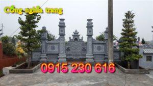 Cổng khu nghĩa trang gia đình ở Nam Định