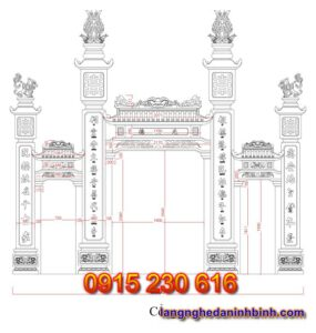 Cổng nhà thờ tổ ở Ninh Bình