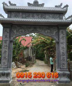 Cổng nhà từ đường tại Nghệ An