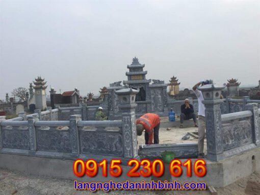 Khu lăng mộ đá đẹp tại Thái Bình