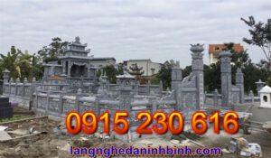 Khu nghĩa trang gia đình bằng đá giá rẻ