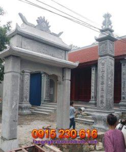 Mẫu cổng đá nhà thờ tổ tại Nghệ An