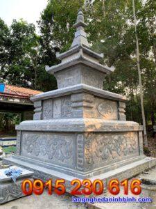 Mẫu mộ tháp đá ở Đắc Lắc