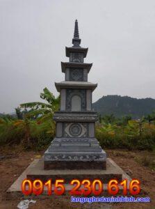 Mẫu mộ tháp đá ở Kon Tum
