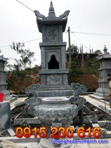 Mộ tháp đá đẹp tại Hậu Giang